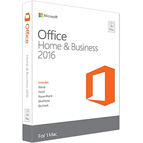Microsoft Office Home & Business 2016 Kit for Mac (1-User License / Product Key Code / Boxed)