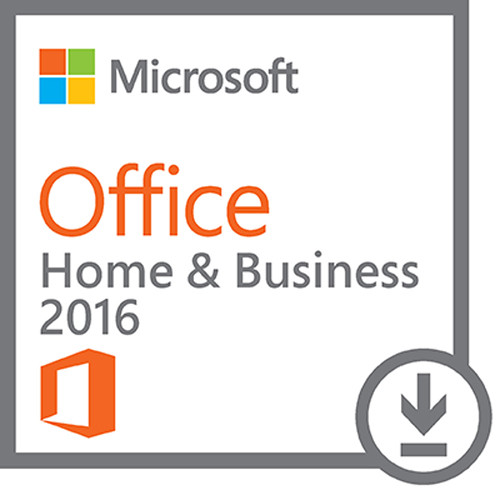 Microsoft Office Home & Business 2016 for Windows Kit (1-User License, Download)