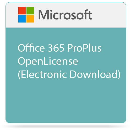 Microsoft Office 365 ProPlus Open License (Electronic Download)