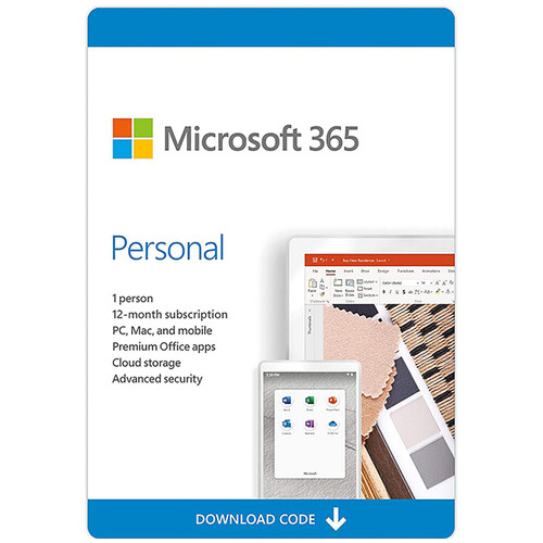 Microsoft 365 Personal (1-User License / 12-Month Subscription / Download)