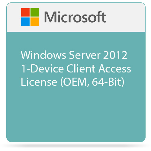 Microsoft Windows Server 2012 1-Device Client Access License (OEM, 64-Bit)