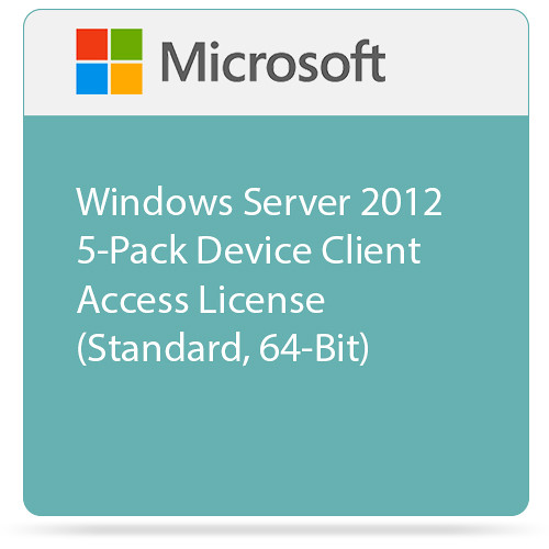 Microsoft Windows Server 2012 5-Pack Device Client Access License (Standard, 64-Bit)