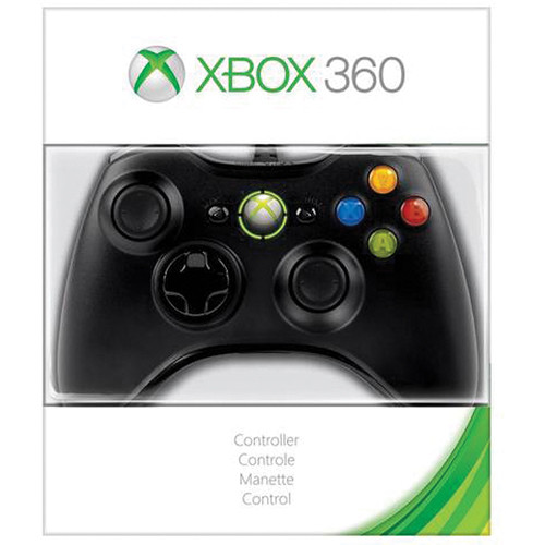 Microsoft Xbox 360 Wired Controller (Black)