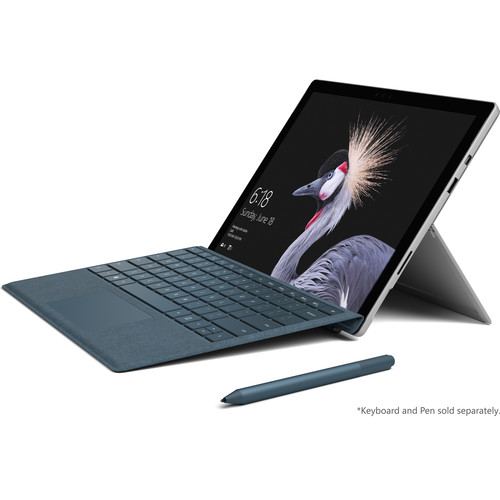 """Microsoft Surface Pro 12.3"""" 128GB Multi-Touch Tablet & Signature Type Cover Kit (Silver/Cobalt Blue)"""