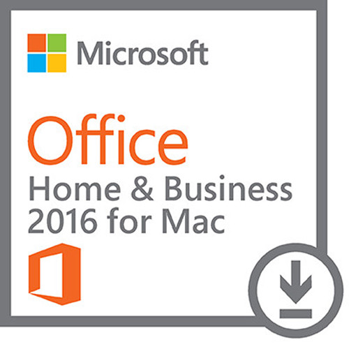 Microsoft Office Home & Business 2016 for Mac (1-User License, Download)