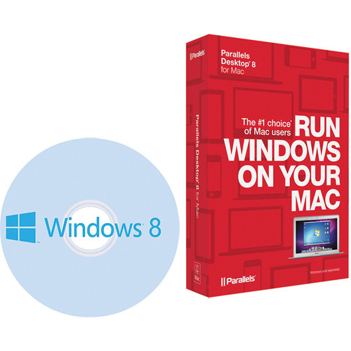 Microsoft Windows 8 (64-bit) System Builder DVD with Parallels Desktop 8 for Mac Kit