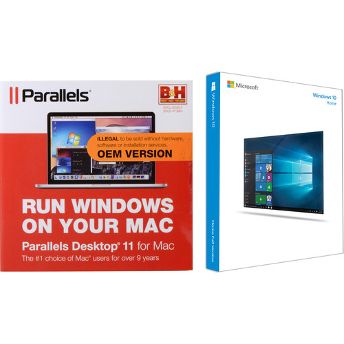 Microsoft Windows 10 Home 64-bit & Parallels Desktop 11 for Mac Kit (DVD)