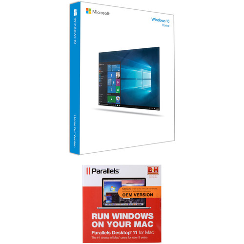 Parallels Windows 10 Home 64-bit Kit with Parallels Desktop 11 for Mac