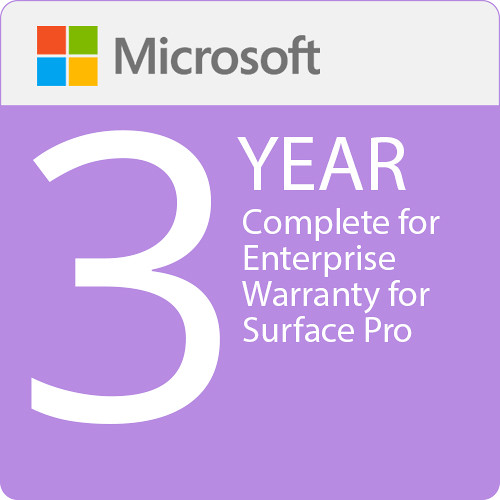 Microsoft Complete For Enterprise 3 Year Warranty Surface Pro