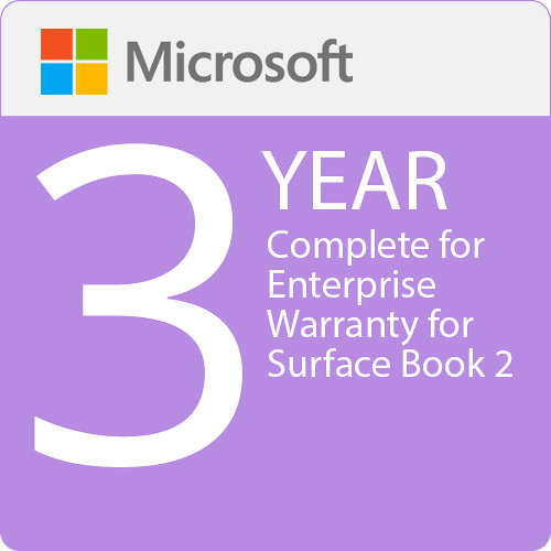 Microsoft Complete For Enterprise 3 Year Warranty Surface Book 2
