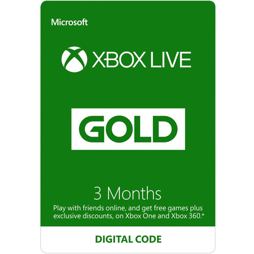 Microsoft Xbox Live Gold (3-Month, Download)