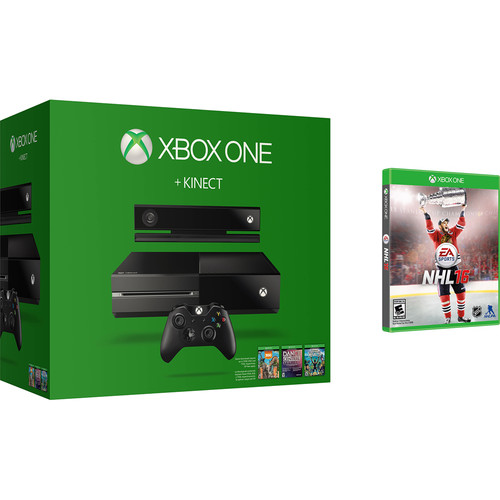 Microsoft Xbox One + Kinect Bundle with NHL 16 Kit