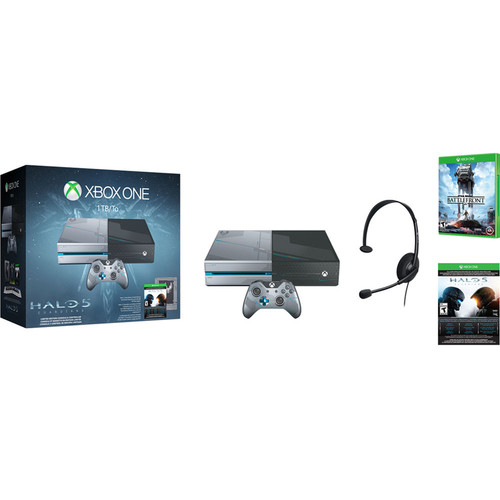 Microsoft Xbox One Limited Edition Halo 5: Guardians Bundle with Star Wars Battlefront Kit