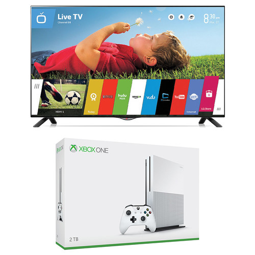 "Microsoft Xbox One S Gaming Console and LG UB8200 Series 49"" Class 4K Smart LED TV Kit"