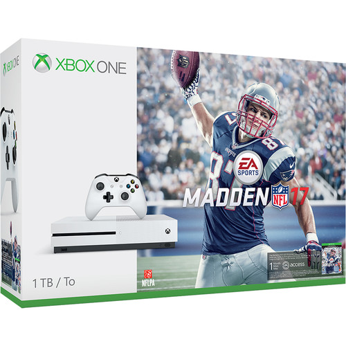 "Microsoft Xbox One S Madden NFL 17 Bundle and LG UB8200 Series 49"" Class 4K Smart LED TV Kit"