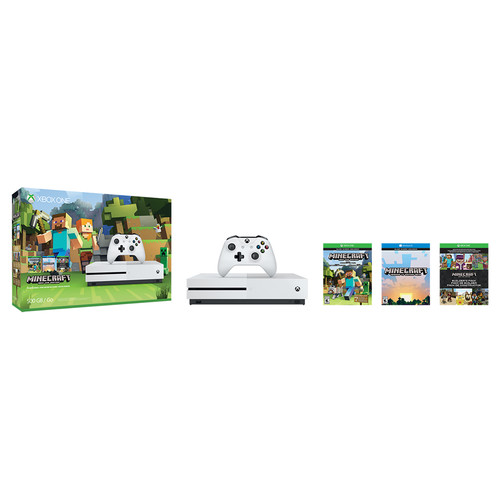 Microsoft Xbox One S Minecraft Favorites Bundle with Additional Controller Kit