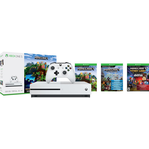 Microsoft Xbox One S 500GB Console and Minecraft Bundle