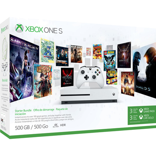 Microsoft Xbox One S 500GB Console with 3-Month Game Pass