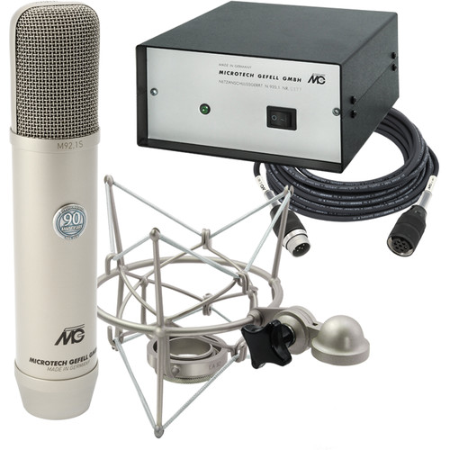 Microtech Gefell M 92.1 S Large-Diaphragm Cardioid Tube Condenser Microphone (Satin Nickel)