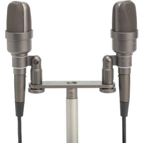 Microtech Gefell M 930 Large-Diaphragm Cardioid Condenser Microphone (Matched Pair, Dark Bronze, ORTF Bracket)