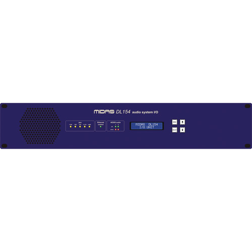 Midas DL154 - Stagebox with 8 MIDAS Mic Preamps and Dual-Redundant AES50 Networking