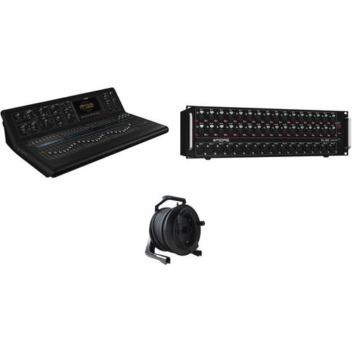 Midas M32 Digital Mixer Kit with DL32 Stagebox & Tour-Grade CAT5E Cable Spool