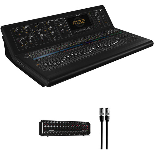 Midas M32-IP Digital Console Kit with Stage Box and etherCON Cable