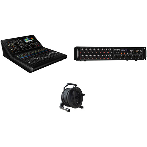 Midas M32R Digital Mixer Kit with DL16 Stagebox and Tour-Grade CAT5E Cable Spool