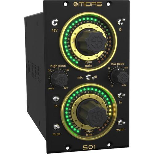 Midas 501 High-Performance 500 Series Microphone Preamplifier