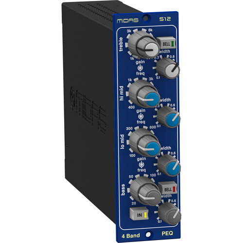Midas 512 Four-Band Parametric Equalizer Based on Heritage 3000 Console