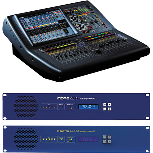 Midas PRO1 Mixer with DL151 and DL153 Stageboxes Kit