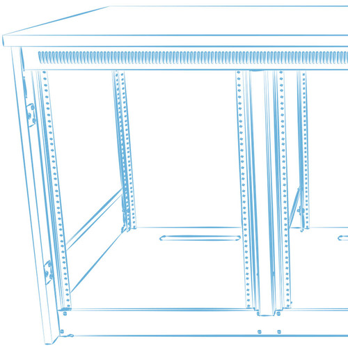 Middle Atlantic C5-MK27-1 Millwork Drawings & Hardware for C5-FF27-1 C5 Series Frame (1 Bay)