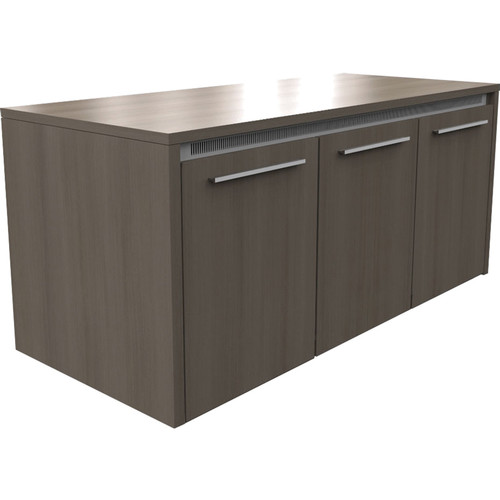 "Middle Atlantic C5 Series 27"" Deep 3 Bay Credenza Rack with Solid Door (Thermolaminate Finish)"