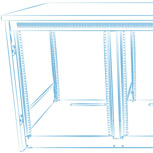 Middle Atlantic C5-MK31-2 Millwork Drawings & Hardware for C5-FF31-2 C5 Series Frame (2 Bays)