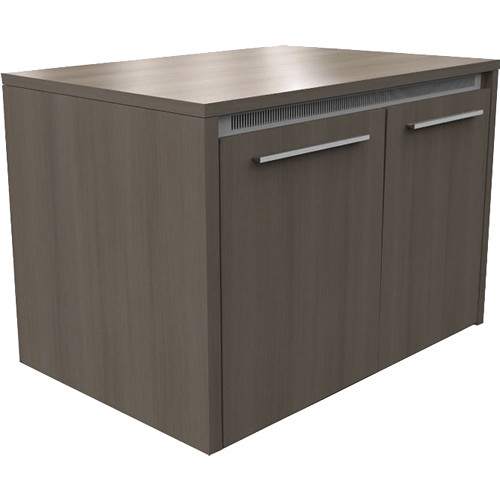 """Middle Atlantic C5 Series 31"""" Deep 2 Bay Credenza Rack with Solid Door (Thermolaminate Finish)"""