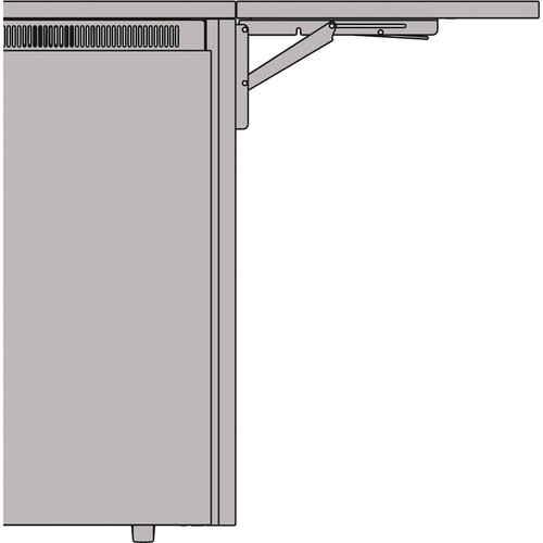 "Middle Atlantic 27"" Flip Up Side Shelf for C5 Series Credenza Racks (Sota Veneer)"