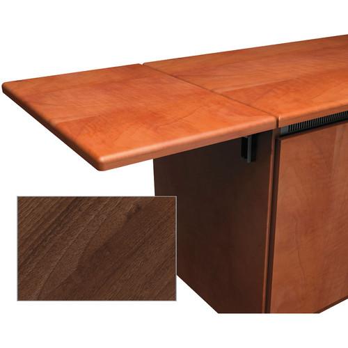 Middle Atlantic Contemporary-Style Flip-Up Side Shelf for Credenza Rack (Dark Pecan)