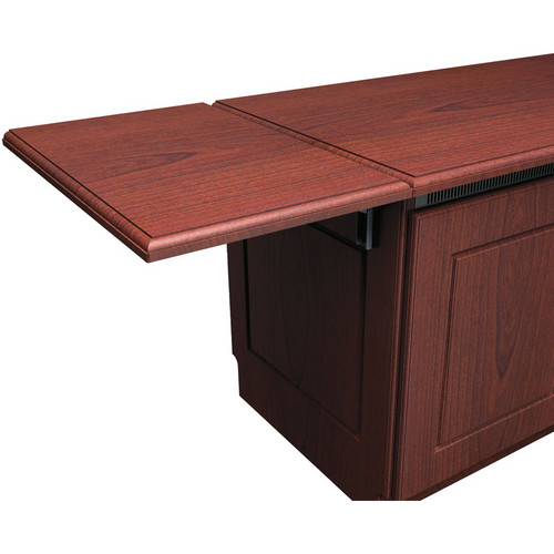 Middle Atlantic Traditional-Style Flip-Up Side Shelf for Credenza Rack (Dark Cherry)