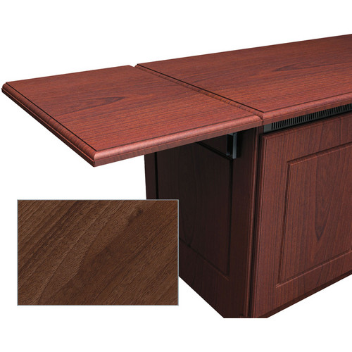 Middle Atlantic Traditional-Style Flip-Up Side Shelf for Credenza Rack (Dark Pecan)