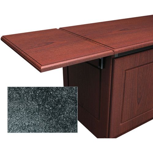 Middle Atlantic Traditional-Style Flip-Up Side Shelf for Credenza Rack (Dark Stone)