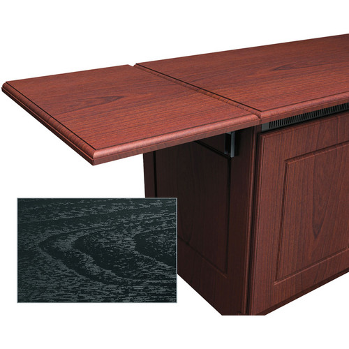 Middle Atlantic Traditional-Style Flip-Up Side Shelf for Credenza Rack (Ebony Ash)