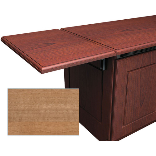 Middle Atlantic Traditional-Style Flip-Up Side Shelf for Credenza Rack (Light Walnut)