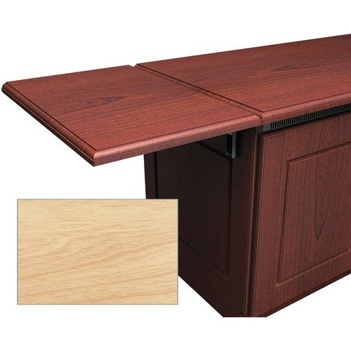 Middle Atlantic Traditional-Style Flip-Up Side Shelf for Credenza Rack (Maple)