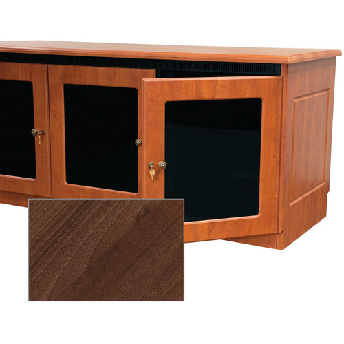 Middle Atlantic Contemporary-Style Finishing Kit for 1-Bay Credenza Rack (Dark Pecan)