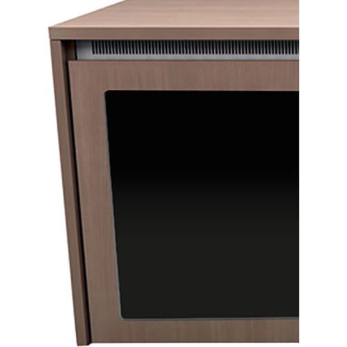 "Middle Atlantic C5 2-Bay Moderno HPL Wood Kit with Plexi Doors (31 x 32"")"