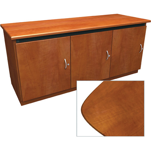 Middle Atlantic Contemporary-Style Finishing Kit for 3-Bay Credenza Rack (Aged Cherry)