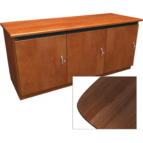 Middle Atlantic Contemporary-Style Finishing Kit for 3-Bay Credenza Rack (Dark Pecan)
