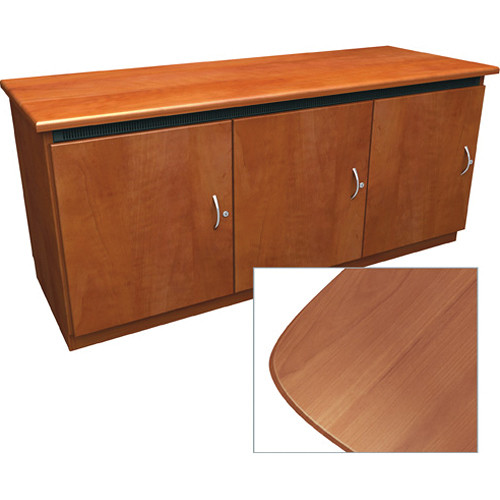 Middle Atlantic Contemporary-Style Finishing Kit for 3-Bay Credenza Rack (Honey Maple)