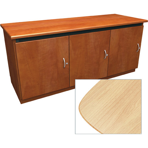 Middle Atlantic Contemporary-Style Finishing Kit for 3-Bay Credenza Rack (Maple)