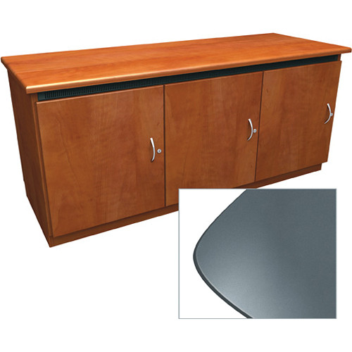 Middle Atlantic Contemporary-Style Finishing Kit for 3-Bay Credenza Rack (Shark Grey)